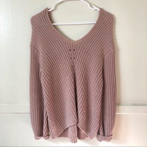 Charlotte Russe Oversized Pink Sweater XS